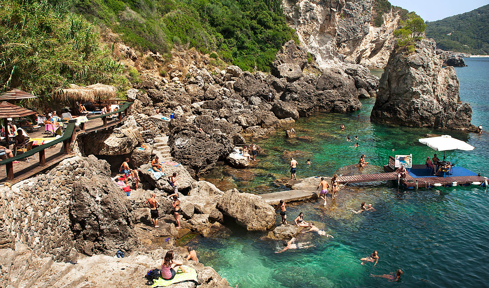 Rental Car Places >> La grota beach paleokastritsa